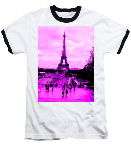 Pink Paris Baseball T-Shirt