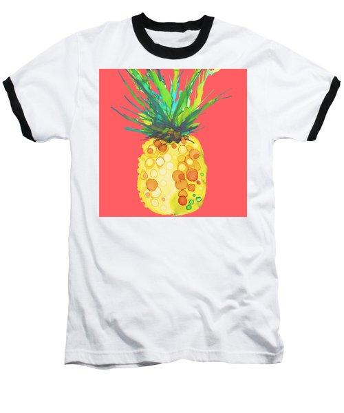 Pink Pineapple Daquari Baseball T-Shirt by Marla Beyer