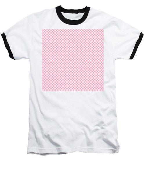 Pink Polka Dots Baseball T-Shirt