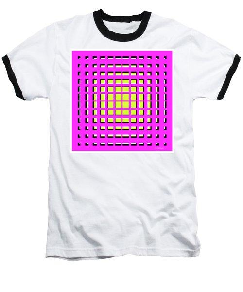 Pink Polynomial Baseball T-Shirt