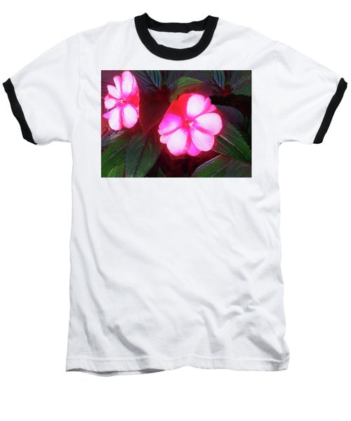 Pink Red Glow Baseball T-Shirt