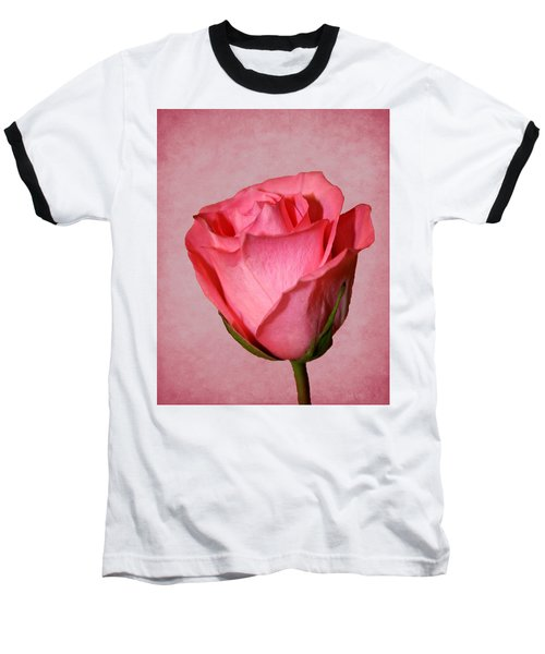 Baseball T-Shirt featuring the photograph Pink Rose by Judy Vincent