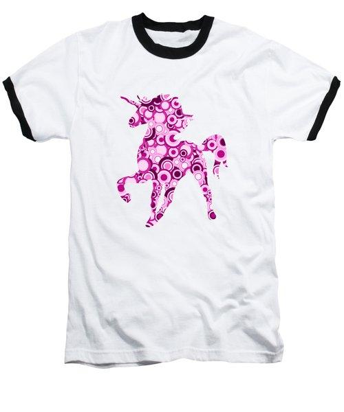 Pink Unicorn - Animal Art Baseball T-Shirt