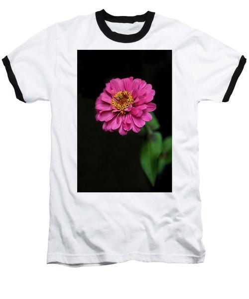 Pink Zinnia Baseball T-Shirt