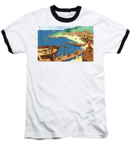 Pirate Port Baseball T-Shirt