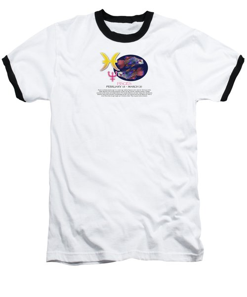 Pisces Sun Sign Baseball T-Shirt