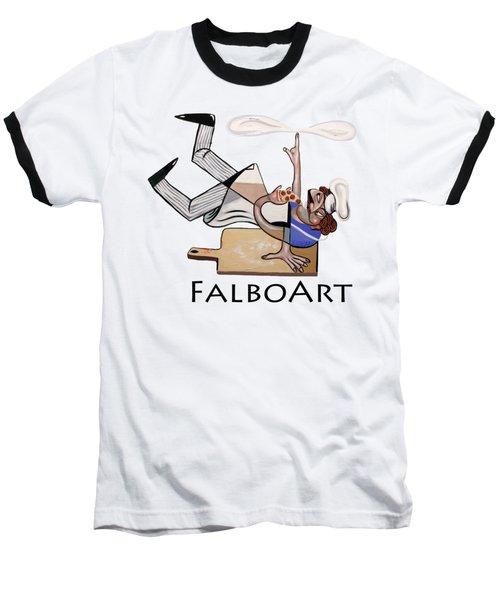 Pizza Break T-shirt Baseball T-Shirt by Anthony Falbo