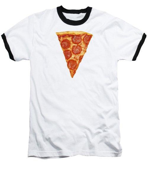Pizza Slice Baseball T-Shirt by Diane Diederich