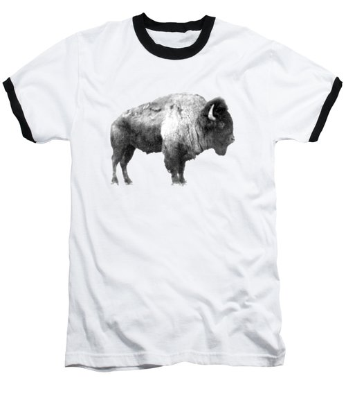 Baseball T-Shirt featuring the photograph Plains Bison by Jim Sauchyn