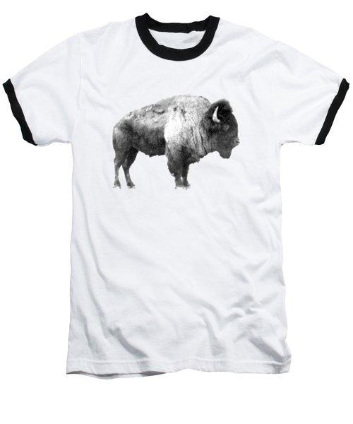 Plains Bison Baseball T-Shirt by Jim Sauchyn