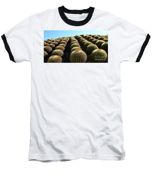 Planet Of Cactus Baseball T-Shirt by Anna  Duyunova