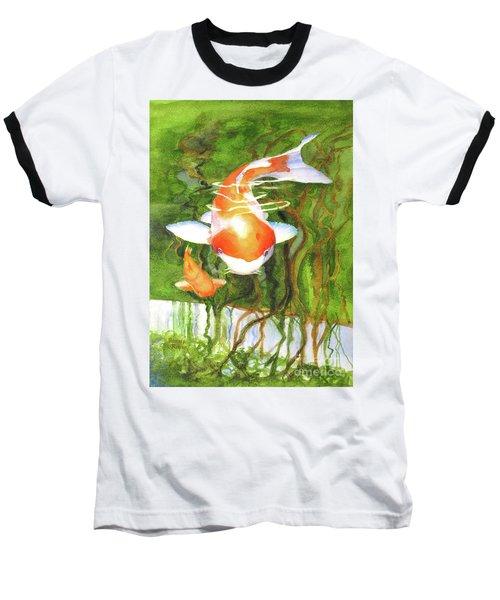 Play Koi With Me Baseball T-Shirt by Bonnie Rinier