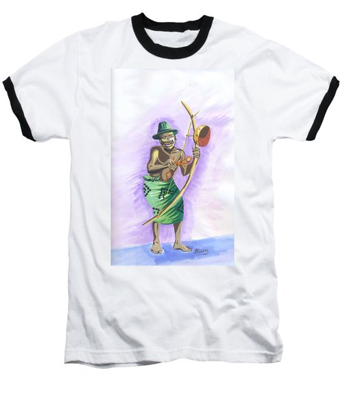 Player Umuduri From Rwanda Baseball T-Shirt by Emmanuel Baliyanga