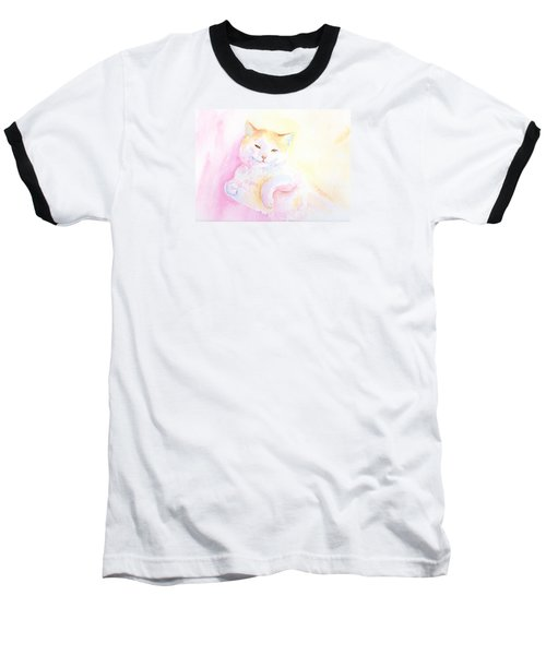 Baseball T-Shirt featuring the painting Playful Cat I by Elizabeth Lock