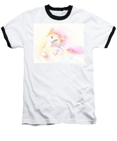 Baseball T-Shirt featuring the painting Playful Cat II by Elizabeth Lock