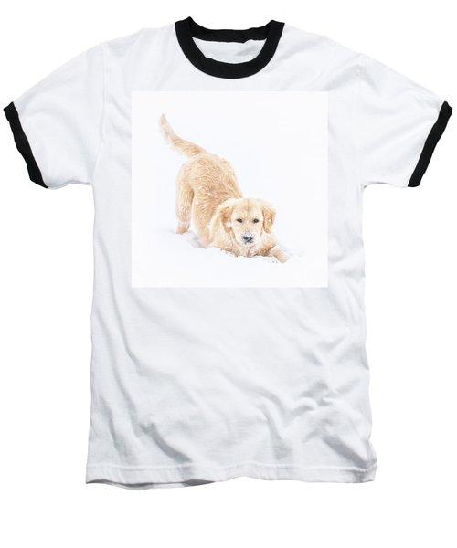 Playful Puppy Baseball T-Shirt