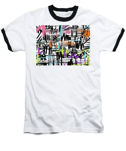 Playful Scribbles Baseball T-Shirt by Go Van Kampen