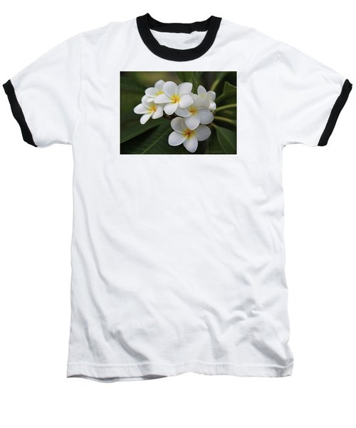 Baseball T-Shirt featuring the photograph Plumeria - Golden Hearts by Kerri Ligatich