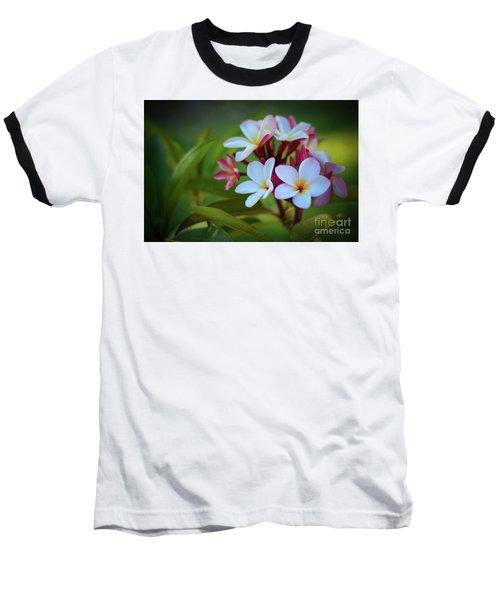 Plumeria Sunset Baseball T-Shirt