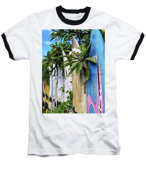 Plumeria Surf Boards Baseball T-Shirt