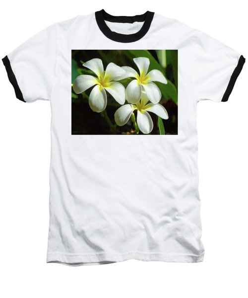 Plumeria Trio Baseball T-Shirt