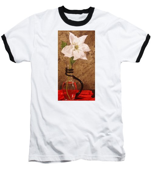 Poinsettia In Pitcher  Baseball T-Shirt