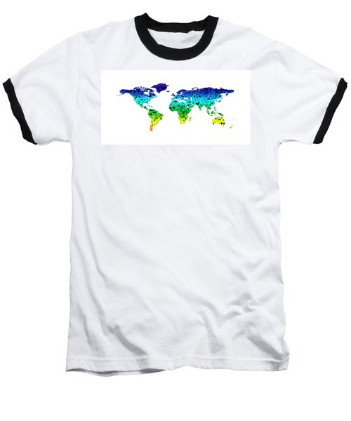 Point Map Baseball T-Shirt by Roger Lighterness