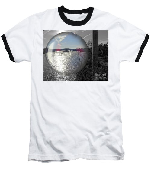 Point Of View Baseball T-Shirt by Melissa Messick