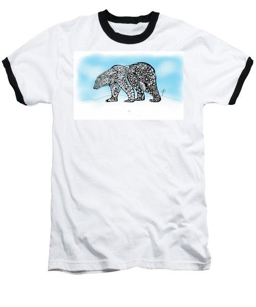 Polar Bear Doodle Baseball T-Shirt