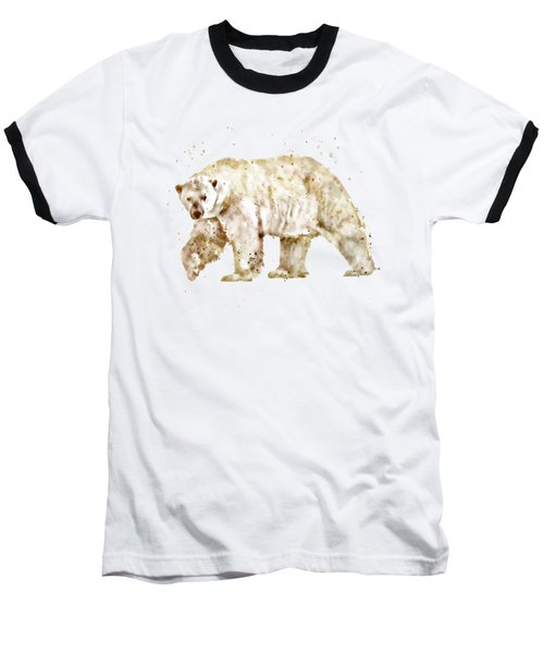 Polar Bear Watercolor Baseball T-Shirt
