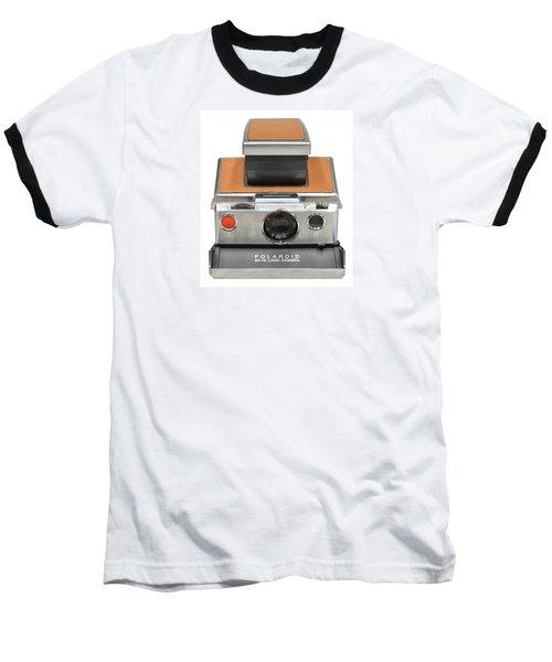 Polaroid Sx70 On White Baseball T-Shirt