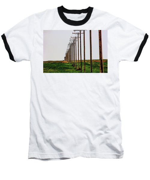 Poles In A Row Baseball T-Shirt
