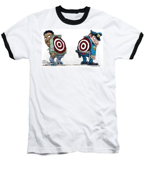 Police And Black Folks Are Targets Baseball T-Shirt