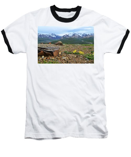 Polychrome Pass, Denali Baseball T-Shirt by Zawhaus Photography
