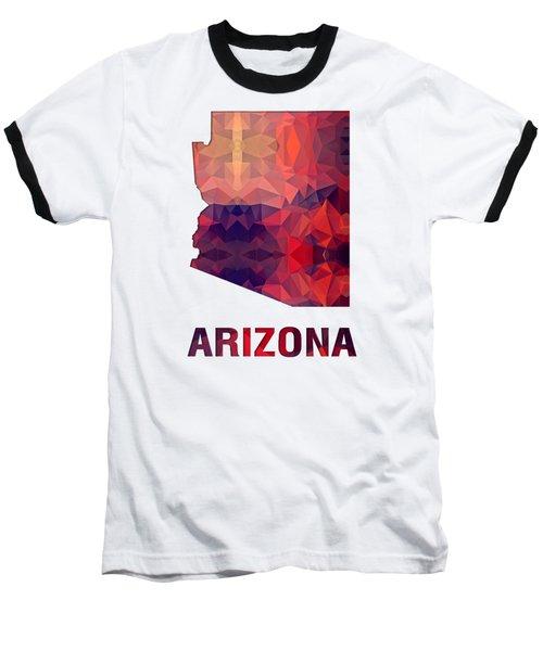 Polygon Mosaic Parchment Map Arizona Baseball T-Shirt