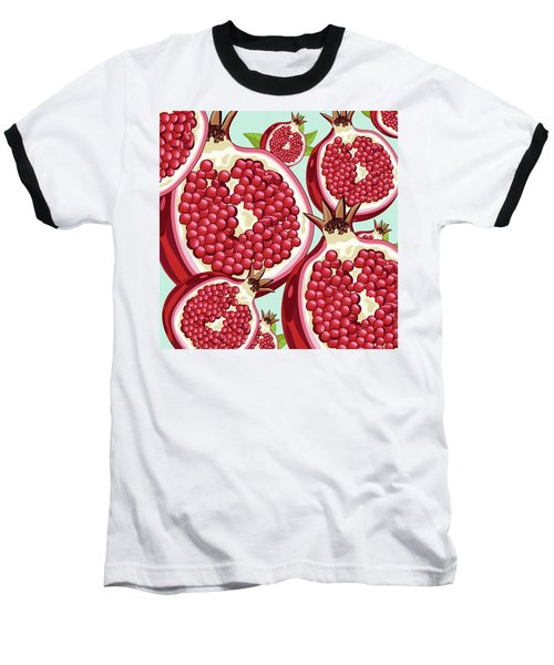Pomegranate   Baseball T-Shirt by Mark Ashkenazi