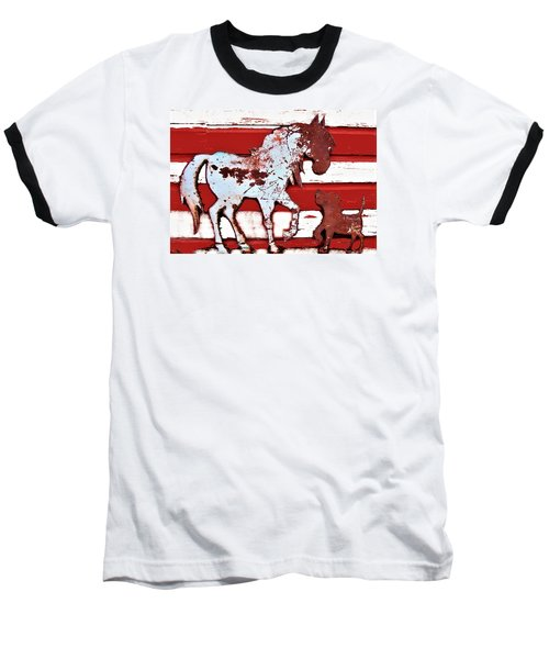 Pony And Pup Baseball T-Shirt