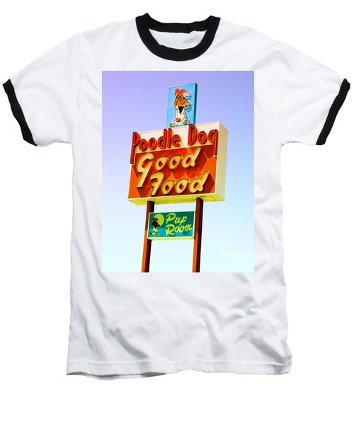 Poodle Dog Diner Baseball T-Shirt