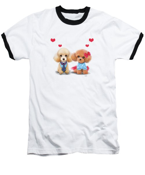 Poodles Are Love Baseball T-Shirt by Catia Cho