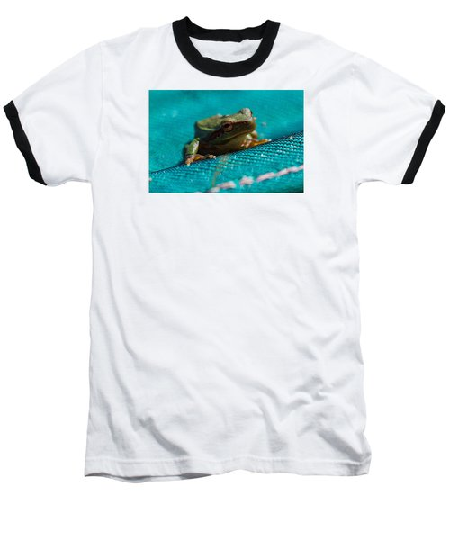 Baseball T-Shirt featuring the photograph Pool Frog by Richard Patmore
