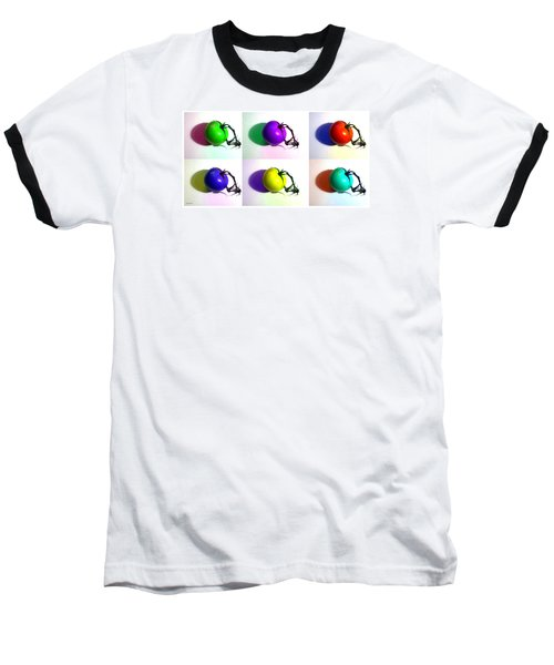 Pop-art Tomatoes Baseball T-Shirt by Shawna Rowe