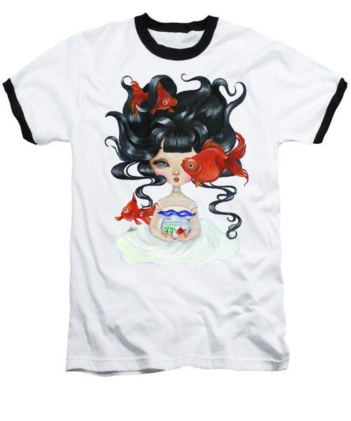 Pop-eyed Goldfish Baseball T-Shirt