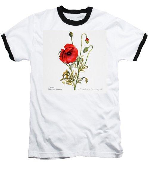 Poppy Baseball T-Shirt