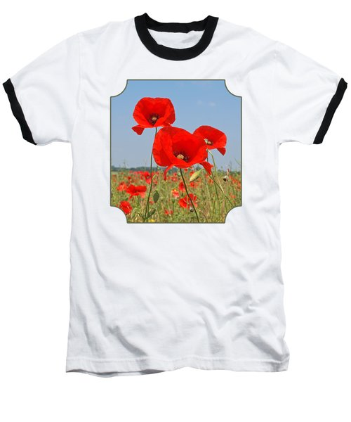 Poppy Fields 4 Baseball T-Shirt