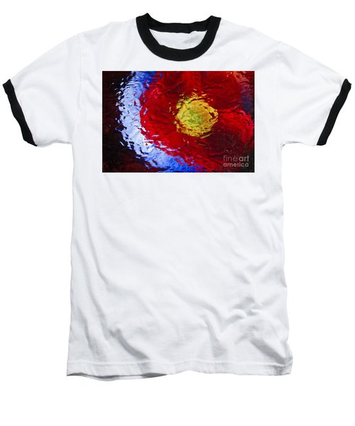 Poppy Impressions Baseball T-Shirt by Jeanette French