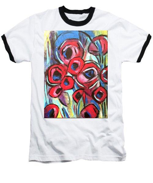 Poppy Love 1 Baseball T-Shirt