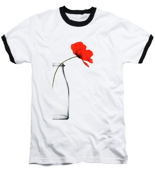 Poppy Red Baseball T-Shirt