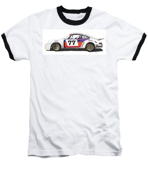 Porsche 1977 Rsr Illustration Baseball T-Shirt