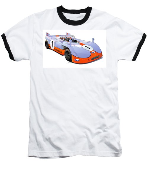 porsche 908 GULF illustration Baseball T-Shirt