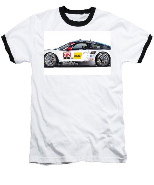 Porsche 911 Gtlm Illustration Baseball T-Shirt by Alain Jamar